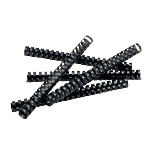 5 Star Office Binding Combs Plastic 21 Ring 225 Sheets A4 25mm Black [Pack 50]