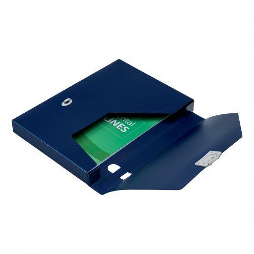 5 Star Office Document Box Polypropylene 30mm A4 Blue [Pack 10]