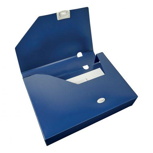 5 Star Office Document Box Polypropylene 60mm A4 Blue [Pack 10]