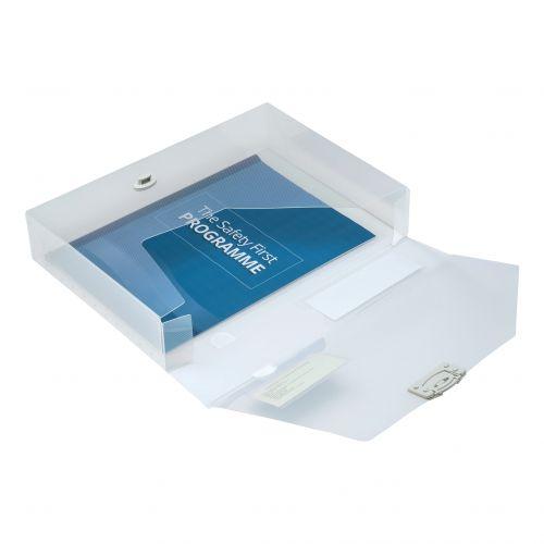 5 Star Office Document Box Polypropylene 60mm A4 Clear [Pack 10]