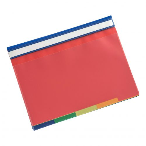 5 Star Office Part File 5-Part Coloured Tabs A4 Clear
