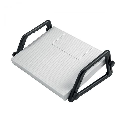 5 Star Office Relax Footrest Dictation Compartment Platform 450x350mm Comp 220x120x20mm Grey Ref 936910