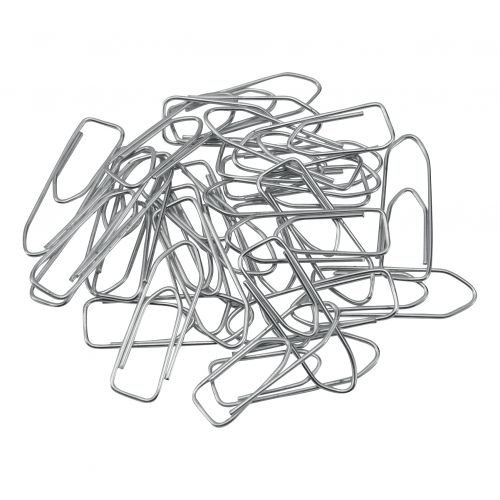 5 Star Office Paperclips Large Non-tear Clip Length 33mm Polished Steel [Pack 1000]