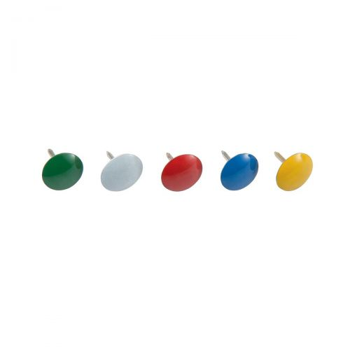 5 Star Office Drawing Pins Coloured Head Assorted [Box 100]