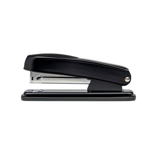 5 Star Office Metal Half Strip Stapler Soft Grip 20 Sheet Capacity Takes 26/6 Staples Black