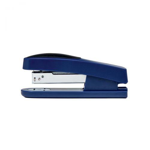 5 Star Office Half Strip Stapler Top Loading Rubber Base 25 Sheet Capacity Takes 26/6 Staples Blue