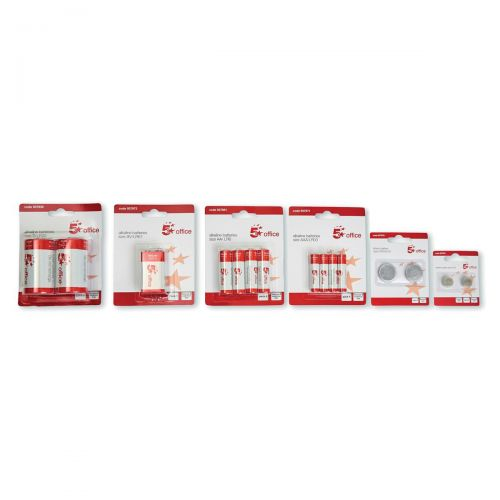 5 Star Office Batteries LR44/76 FSB-2 [Pack 2]