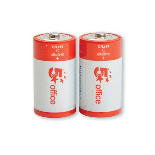 5 Star Office Batteries C/LR14 [Pack 2]