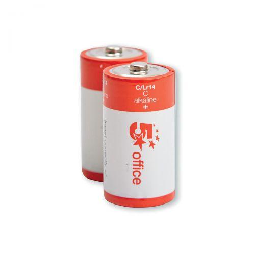 5 Star Office Batteries C/LR14 [Pack 2]