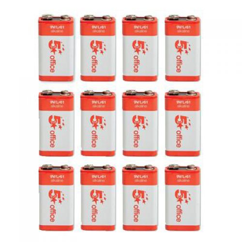 5 Star Office Batteries 9V/6LR61 [Pack 12]