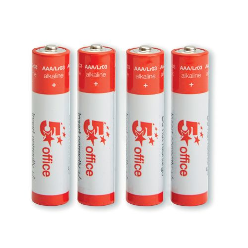 5 Star Office Batteries AAA [Pack 4]