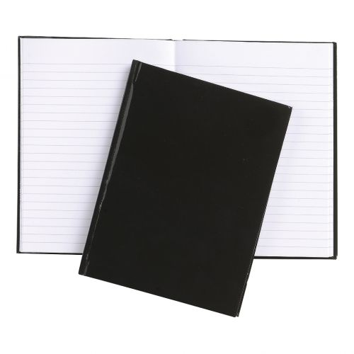 5 Star Office Notebook Casebound 70gsm Ruled 192pp A6 Black [Pack 10]