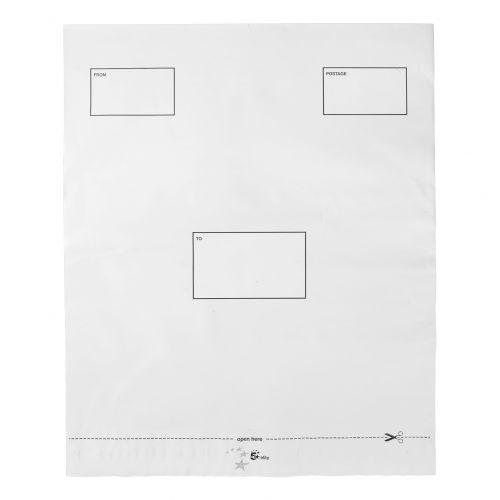 5 Star Elite DX Bags Self Seal Waterproof White 395x430mm &50mm Flap [Pack 100]