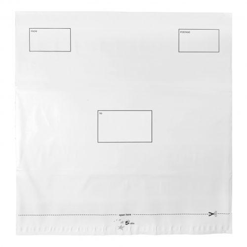 5 Star Elite DX Bags Self Seal Waterproof White 475x440mm &50mm Flap [Pack 100]