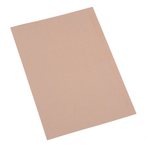 5 Star Eco Square Cut Folders 170gsm A4 Recycled Kraft [Pack 100]