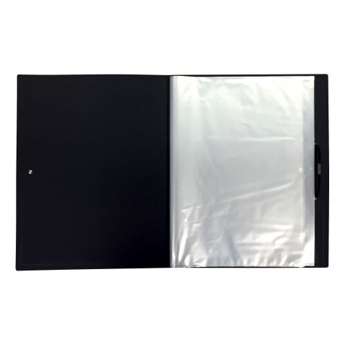 Image for 5 Star Office Display Book Hardback Cover Polypropylene 100 Pockets A4 Black