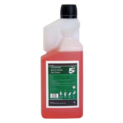 5 Star Facilities Concentrated Glass & Stainless Steel Cleaner 1 Litre