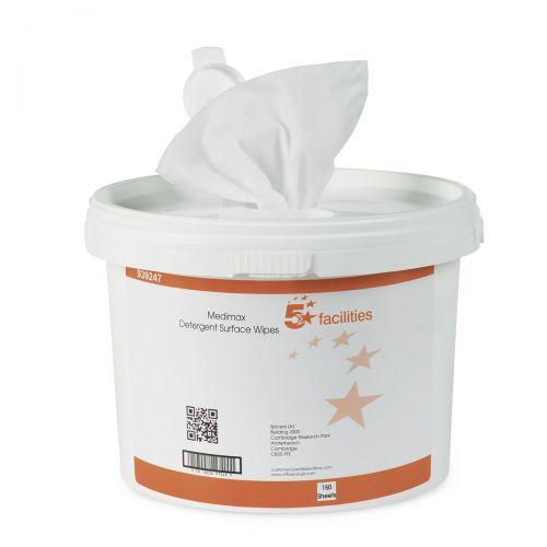 5 Star Medimax Detergent Surf Wipe Pk150