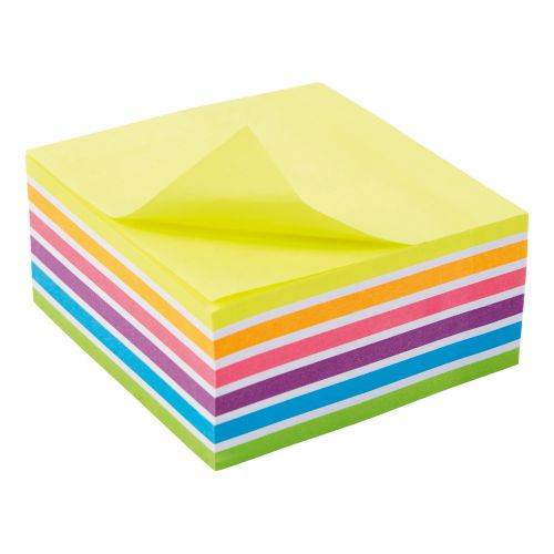 5 Star Office Re-Move Sticky Notes Rainbow Cube 76x76mm 6 Bright Colours 400 Sheets