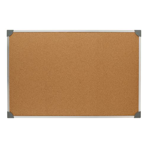 5 Star Eco Cork Board with Wall Fixing Kit Aluminium Frame W900xH600mm