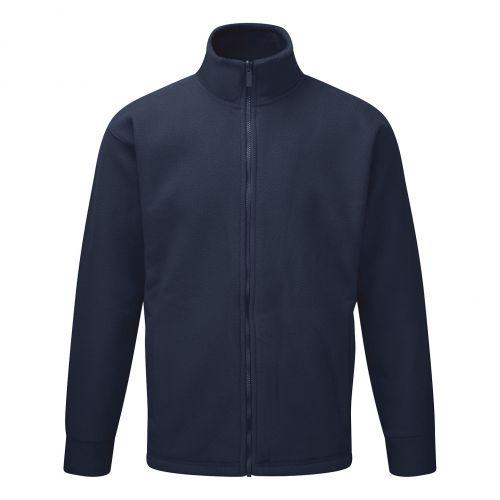 Classic Fleece Jacket Elasticated Cuffs Full Zip Front 5XL Navy Ref FLJN4XL *Approx 3 Day Leadtime*