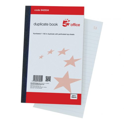 Image for 5 Star Duplicate Book 8.25x5 (210x130mm)