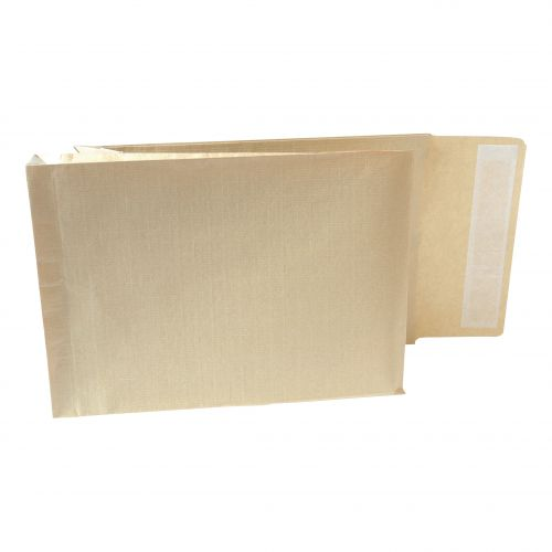 New Guardian Armour Envelopes C4 Gusset 50mm Peel And Seal 130gsm Kraft Manilla Ref A28113 [Pack 100]