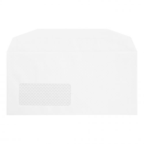 Postmaster Mailing Machine Envelopes DL Wallet Gummed with Window 90gsm White [Pack 500]