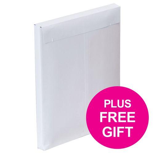 Plus Fabric Envelopes PEFC Peel & Seal Gusset 120gsm C4 324x229x25mm White Ref C26766 [Pack 100]