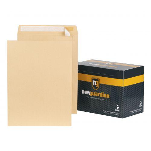 New Guardian Envelopes FSC Pocket Peel & Seal Heavyweight 130gsm 406x305mm Manilla Ref D23703 [Pack 125]