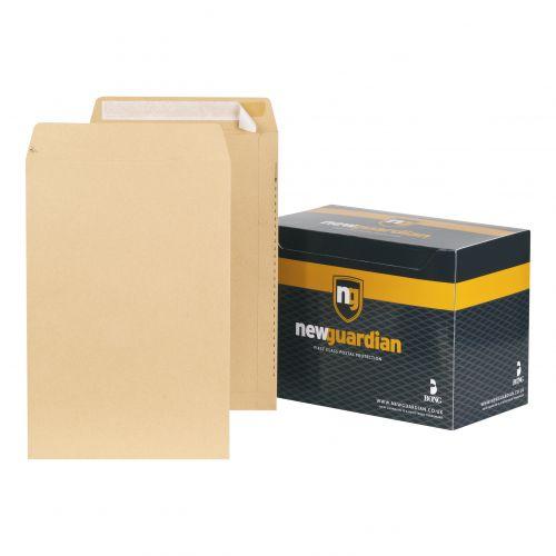New Guardian Envelopes FSC Pocket Peel & Seal Heavyweight 130gsm 381x254mm Manilla Ref E23513 [Pack 125]