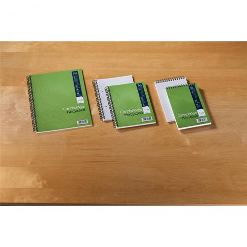 Cambridge Recycled Reporters Notebook 70gsm Ruled and Perforated 160pp 125x200mm Ref 100080468 [Pack 10]
