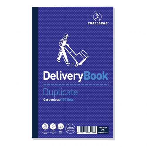 Image for Challenge Duplicate Book Carbonless Delivery Book 100 Sets 210x130mm Ref 100080470 [Pack 5]