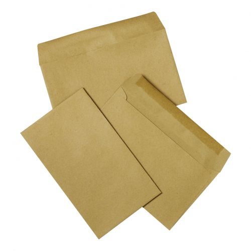 5 Star Office Envelopes FSC Recycled Wallet Gummed Lightweight 75gsm 89x152mm Manilla [Pack 2000]