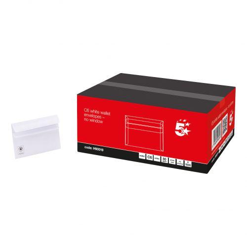 5 STAR OFFICE ENV C6 80GM S/S WHT PK1000