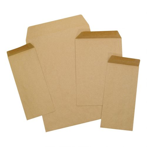 5 Star Office Envelopes Recycled Pocket Gummed 80gsm Manilla DL [Pack 1000]