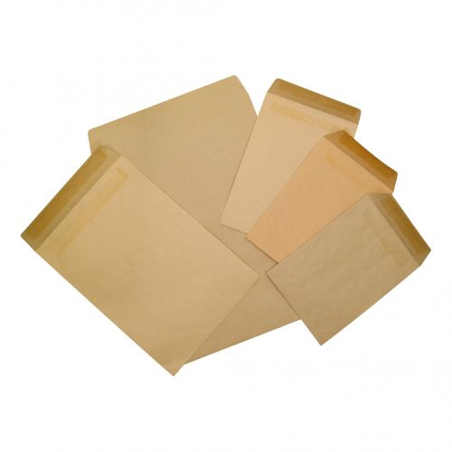 5 Star Office Envelopes C5 Lightweight Pocket Gummed 80gsm Manilla [Pack 1000]