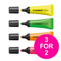 Stabilo Neon Highlighter Assorted Ref 72/4-1 [Pack 4] [3 for 2] Jan-Mar 2020