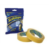 Sellotape Original Golden Tape Roll Non-static Easy-tear 24mmx66m Ref 1443306 [Pack 6]