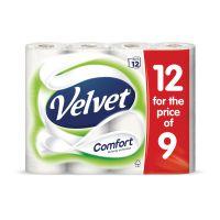 Triple Velvet Toilet Rolls White Ref M01369 [Pack 12]
