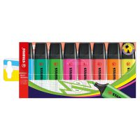 Stabilo Boss Highlighters Chisel Tip 2-5mm Line Wallet Assorted Ref 70/8 [Pack 8]
