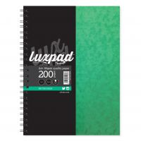 Silvine Notebook Twinwire Sidebound 75gsm Ruled Perf Punched 4 Holes 200pp A4+ Green Ref SPA4 [Pack 6]