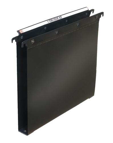 Elba Ultimate Suspension File Polypropylene 30mm Foolscap Black Ref 100330372 [Pack 25]