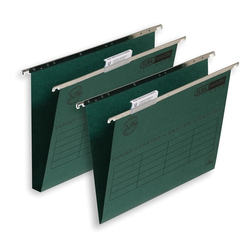Elba Ultimate Suspension File 240gsm Manilla 30mm Foolscap Green Ref 100331114 [Pack 50]