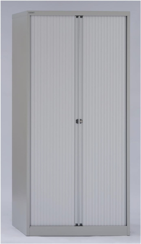 Bisley Side Opening Tambour Cupboard W1000xD470xH1968mm Goose Grey (Pack of 1)