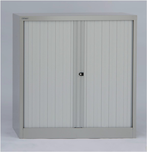 Bisley Side Opening Tambour Cupboard W1000xD470xH1016mm Goose Grey (Pack of 1)