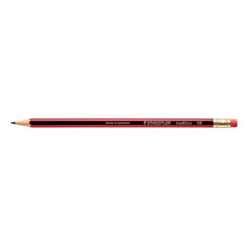 Staedtler 112 Tradition HB Pencil Rubber Tip Red/Black Barrel (Pack 12)