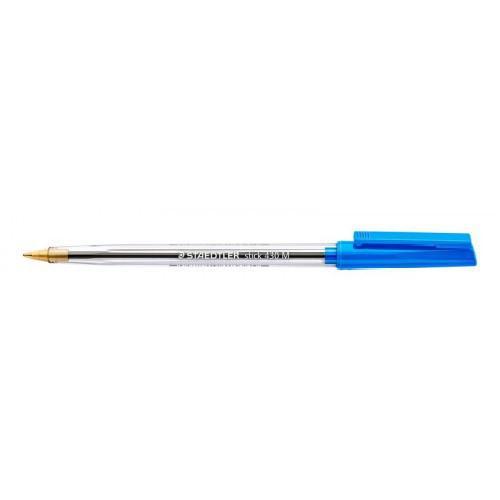 Staedtler 430 Stick Ballpoint Pen 1.0mm Tip 0.35mm Line Blue (Pack 10)