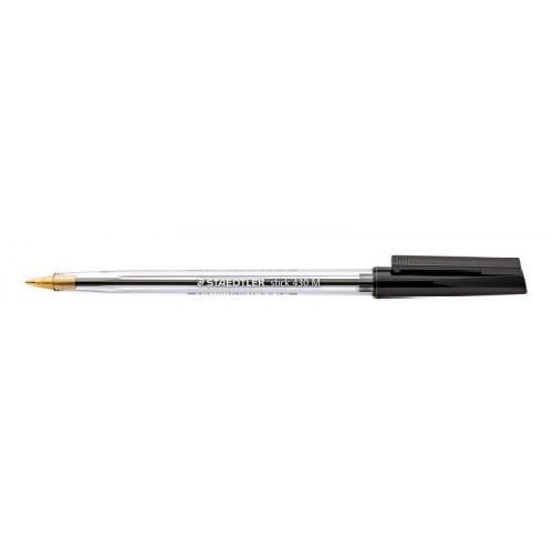 Staedtler 430 Stick Ballpoint Pen 1.0mm Tip 0.35mm Line Black (Pack 10)