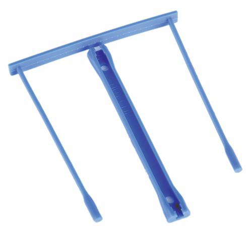 ValueX Plastic Filing Clip Blue (Pack 20)